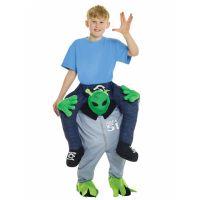 Bild på Piggy Back Alien Maskeraddräkt Barn