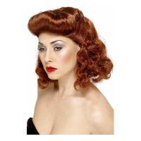 Bild på Pin-Up Girl Rödbrun Peruk - One size