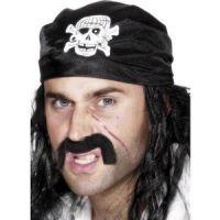 Bild på Pirat bandana döskalle och ben