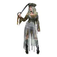 Bild på Pirat Dam Zombie Maskeraddräkt - Small/Medium