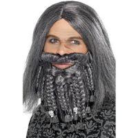 Bild på Pirat set peruk och skägg