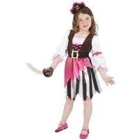 Bild på Piratbarn maskeraddräkt rosa