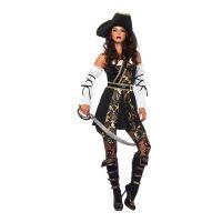 Bild på Piratkapten Dam Deluxe Maskeraddräkt - Small