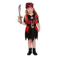 Bild på Piratklänning Röd/Svart Barn Maskeraddräkt - One size