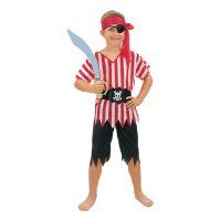 Bild på Piratpojke Randig Barn Maskeraddräkt - Small