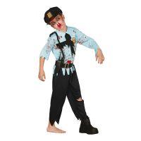 Bild på Polis Zombie Barn Maskeraddräkt - Small