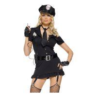 Bild på Poliskvinna Deluxe Maskeraddräkt - X-Small