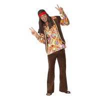 Bild på Psykadelisk 60-tals Hippie Maskeraddräkt - Medium