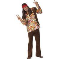 Bild på Psykedelisk 1960-tals hippie maskeraddräkt