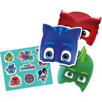 Bild på Pyjamashjältarna, Masker och Klistermärken 6 st