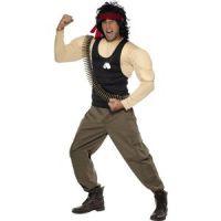 Bild på Rambo maskeraddräkt - Medium