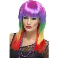 Bild på Regnbågsfärgad rockare peruk