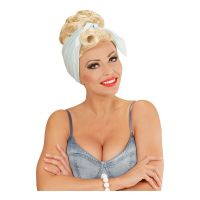 Bild på Rockabilly Peruk Blond med Scarf - One size
