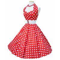 Bild på Rockabillyklänning Polka Röd