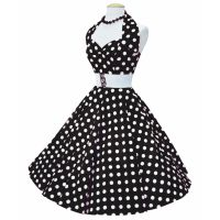 Bild på Rockabillyklänning Polka Svart