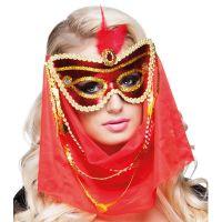 Bild på Röd Mask med Slöja