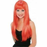 Bild på Röd peruk med lugg