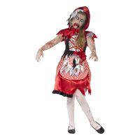 Bild på Rödluvan Zombie Barn Maskeraddräkt - Small