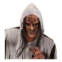 Bild på Rutten Zombie/Häxa Halvmask med Hår - One size