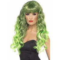 Bild på Siren Peruk Grön och Svart