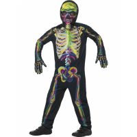 Bild på Självlysande Skelett Maskeraddräkt Barn Large 87a07bc550670