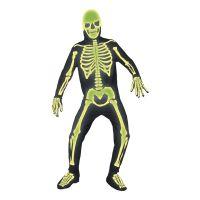 Bild på Självlysande Skelett Maskeraddräkt - Medium d059f5591622a