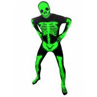 Bild på Självlysande Skelett Morphsuit Large 8bdf68fe2f20b
