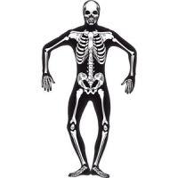 Bild på Självlysande skelett Second Skin maskeradräkt