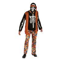 Bild på Skelett Hippie Maskeraddräkt - One size
