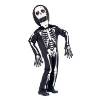 Bild på Skelett med Överdimensionerat Huvud Maskeraddräkt - Small/Medium