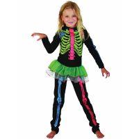 Bild på Skelett Neon Maskeraddräkt Barn (Small (3-4 år))