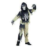 Bild på Skelett Zombie Barn Budget Maskeraddräkt - Small