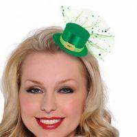 Bild på St Patrick´s day - Leprechaun mini hatt hårklämma