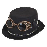 Bild på Steampunk Höghatt med Glasögon - One size