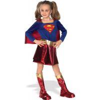 Bild på Supergirl Deluxe Barn Maskeraddräkt (Small)