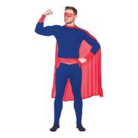 Bild på Superhjälte Blå/Röd Maskeraddräkt - Small