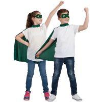 Bild på Superhjälte Grön Mantel med Ögonmask Barn
