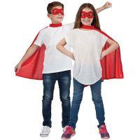Bild på Superhjälte Röd Mantel med Ögonmask Barn