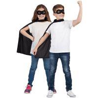 Bild på Superhjälte Svart Mantel med Ögonmask Barn