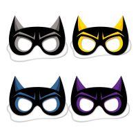 Bild på Superhjältemasker Bat i Papp - 4-pack