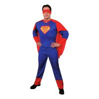 Bild på Superman Budget Maskeraddräkt - One size
