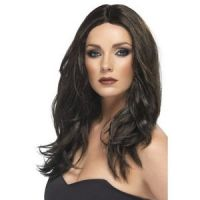 Bild på Superstar mörkbrun peruk