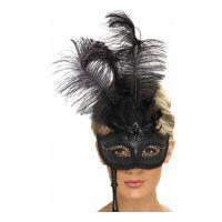 Bild på Svart Barock Ögonmask - One size
