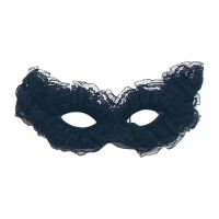 Bild på Svart Venetiansk Carnivalmask - One size