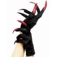 Bild på Svarta Handskar med Röda Naglar
