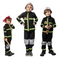 Bild på Svensk Brandman Barn Maskeraddräkt - Small