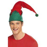 Bild på Tomtenisse hatt - röd och grön