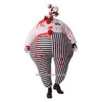 Bild på Uppblåsbar läskig clown maskeraddräkt