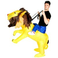 Bild på Uppblåsbar Ridande Lejondräkt