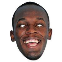 Bild på Usain Bolt ansiktsmask